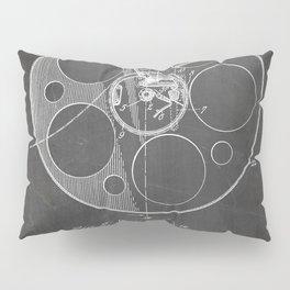 Film Reel Patent - Classic Cinema Art - Black Chalkboard Pillow Sham