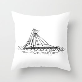 Montréal - Stade Olympique - Black Throw Pillow