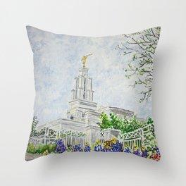 San Antonio Texas LDS Temple Throw Pillow