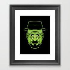 Walter White Portrait. Framed Art Print