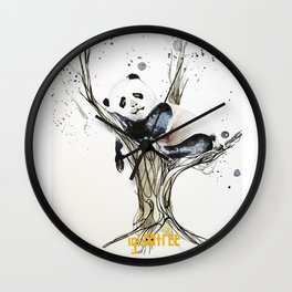 Panda in the Tree Wall Clock