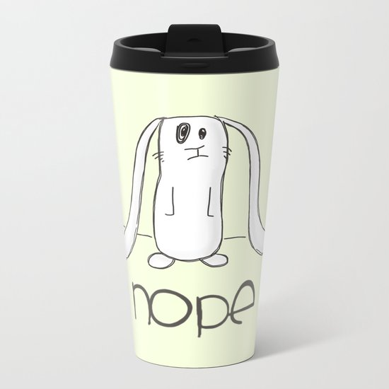 Nope Metal Travel Mug