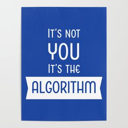 Social Media Algorithm Blues Poster