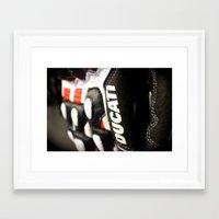 ducati Framed Art Prints featuring Ducati Digits by Desmo Vita