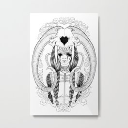 Tears, Skull and a broken Heart Metal Print