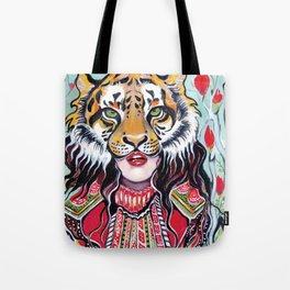 Tiger Woman Tote Bag