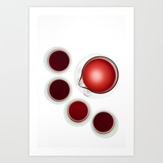 Wine Decanter And Glasses Art Print