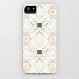 Gold & Marble & Blush & Olive 01 iPhone Case