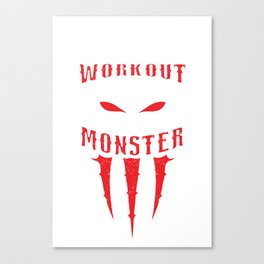 Workout Monster Canvas Print