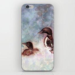 Loon Calling by Maureen Donovan iPhone Skin