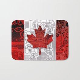 circuit board Canada (Flag) Bath Mat