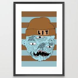LIT dood Framed Art Print