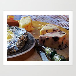 Easter Cheese Plate Art Print