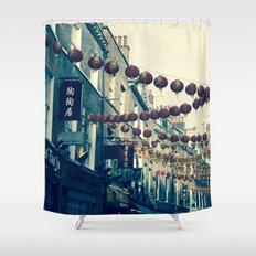 London Chinatown Shower Curtain