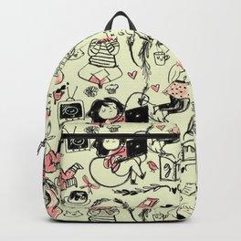 Girl pattern Backpack