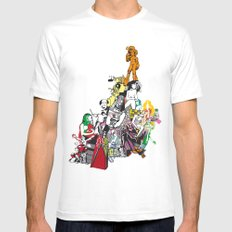 Chaos MEDIUM White Mens Fitted Tee