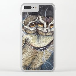 the Sleepless Night Clear iPhone Case