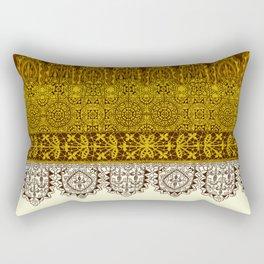 crochet lace in cream Rectangular Pillow