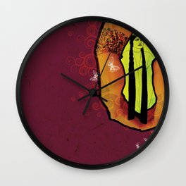 For you - maroon Wall Clock