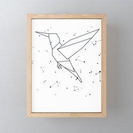 Hummingbird Constellation Astrology Stars Sign Framed Mini Art Print