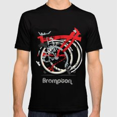 Brompton Bike Mens Fitted Tee Black X-LARGE
