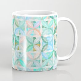 Geometric Shapes in Vibrant Greens / Soap Bubble Coffee Mug