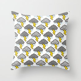 Electric Clouds Throw Pillow
