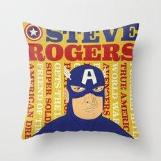 Steve Rogers/Captain America Throw Pillow