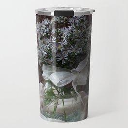 Wild Asters in a Mason Jar Travel Mug