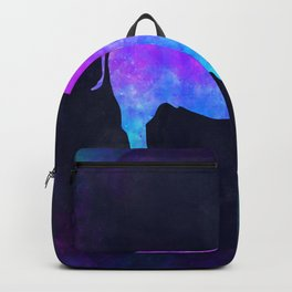 BUFFALO IN SPACE // Animal Graphic Art // Watercolor Canvas Painting // Modern Minimal Cute Backpack