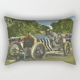Vintage Racing Car - De Dietrich Course Rectangular Pillow