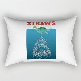 Straws Turtle Shark Straw Plastic Rectangular Pillow