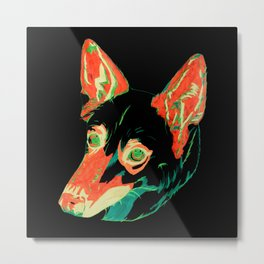 Husky German Shepherd Mix Metal Print