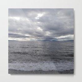 Storming Salish Sea Metal Print