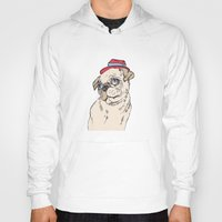 pug Hoodies featuring Pug by Madmi