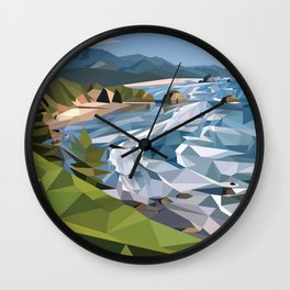Geometric Cannon Beach Wall Clock