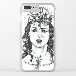 Butterfly Crowned Priestess Clear iPhone Case