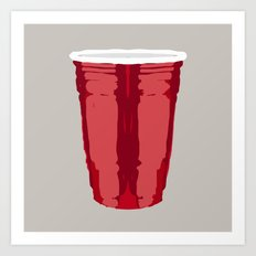 Clarity Cup Red (Big) Art Print