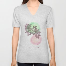 20 // Abstract 9 March 2017  | Abstract Shapes Art Colour Unisex V-Neck