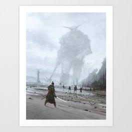 stranger in a strange land Art Print