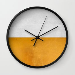 Wabi Sabi - Gold and Grey Texture Wall Clock