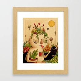 Succulent Man Gerahmter Kunstdruck