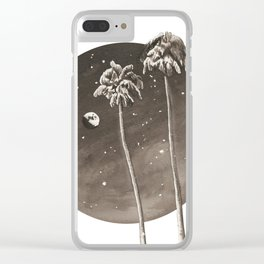 Tall Palms Clear iPhone Case