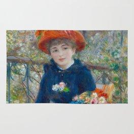 """Pierre Auguste Renoir """"Two Sisters"""" Rug"""