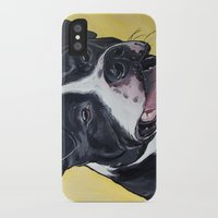 pit bull iPhone & iPod Cases featuring Pit Bull by WOOF Factory