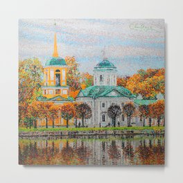 The Temple of the All-Merciful Saviour in the Park Kuskovo Metal Print