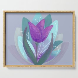 Tulip and Lotus Blossom Serving Tray