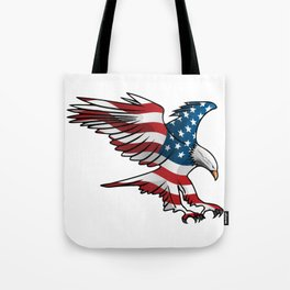 Patriotic Flying American Flag Eagle Tote Bag
