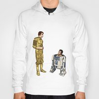 c3po Hoodies featuring C3PO & R2D2 by joshuahillustration