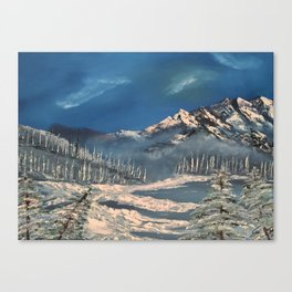 Ice Fields - winter day Canvas Print